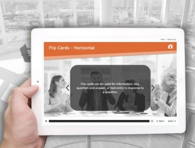 flip cards storyline e-learning template