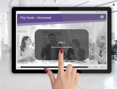 e-learning template flip cards
