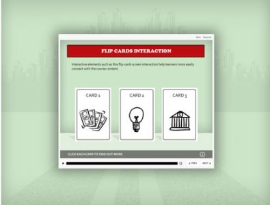 articulate storyline e-learning flip cards template