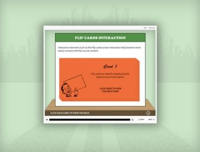 e-learning storyline flip cards template