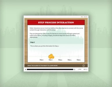 step process e-learning template