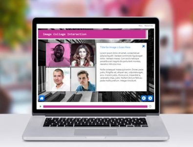 storyline e-Learning image collage interaction template