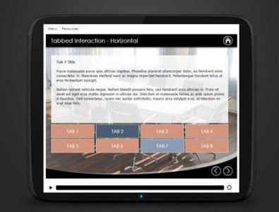 e-Learning storyline tabbed interaction template