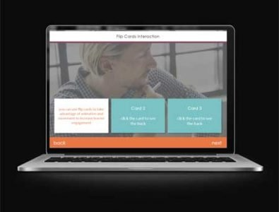 flip cards storyline elearning template