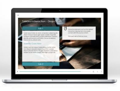 elearning template tabbed interaction
