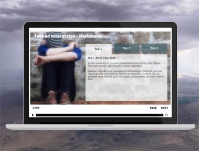 tabbed interaction storyline template