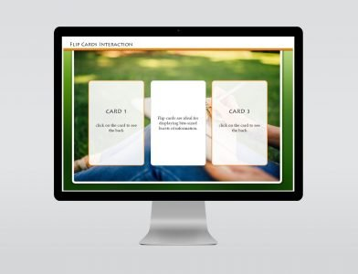 flip cards elearning template for download