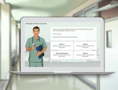 scenario elearning template for download