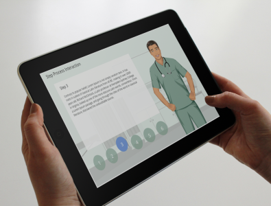 step process elearning medical template