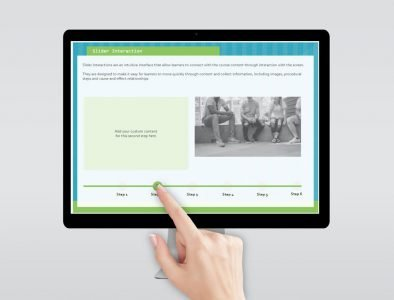 step process elearning template